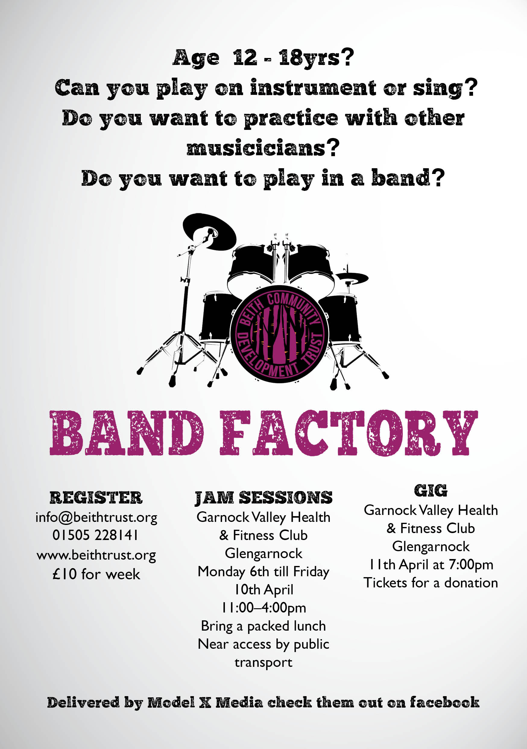 This week sees the start of Beith Trusts fantastic Band Factory 2015!